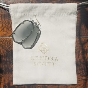 Kendra Scott Grey and Silver Danielle Earrings